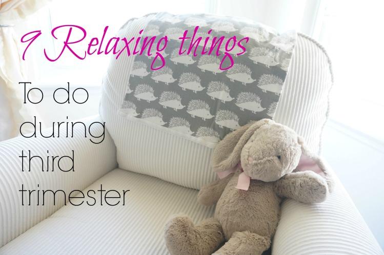 9 relaxing things